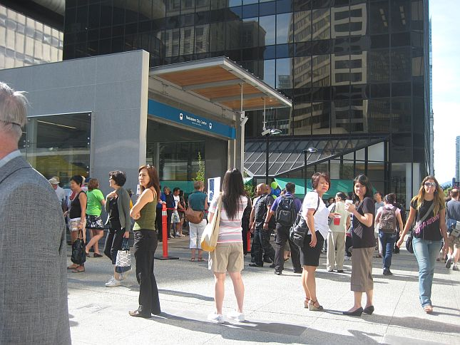 5 Vancouver Centre Opening of new Canada Line