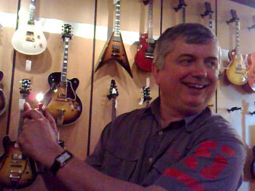 Al with Guitar Lighter