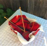 Red Scarf basket