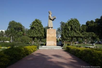 Ghalib's statue in campus
