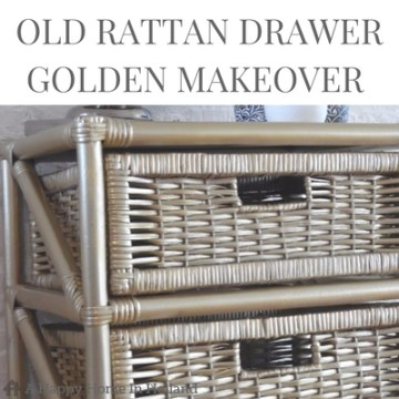 Upcycle Rattan Drawers - Seen how this set of old drawers was transformed into a beautiful show piece using gold spray paint