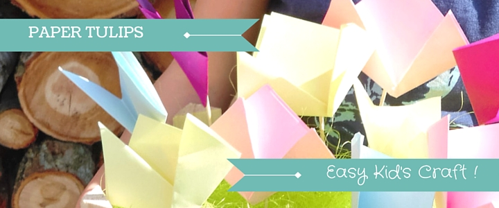 Paper Crafts For Kids Simple Paper Tulips