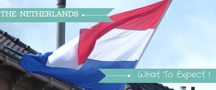 Image Of Dutch Flag Flying In the Wind