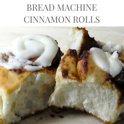 Bread Machine Cinnamon Rolls: This recipe is the best I have tried and makes delicious light and airy buns