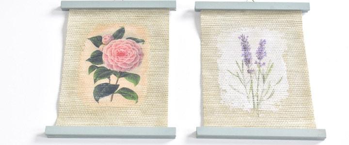 Free Printable Flower Images + DIY Photo Transfer Wall Art Idea