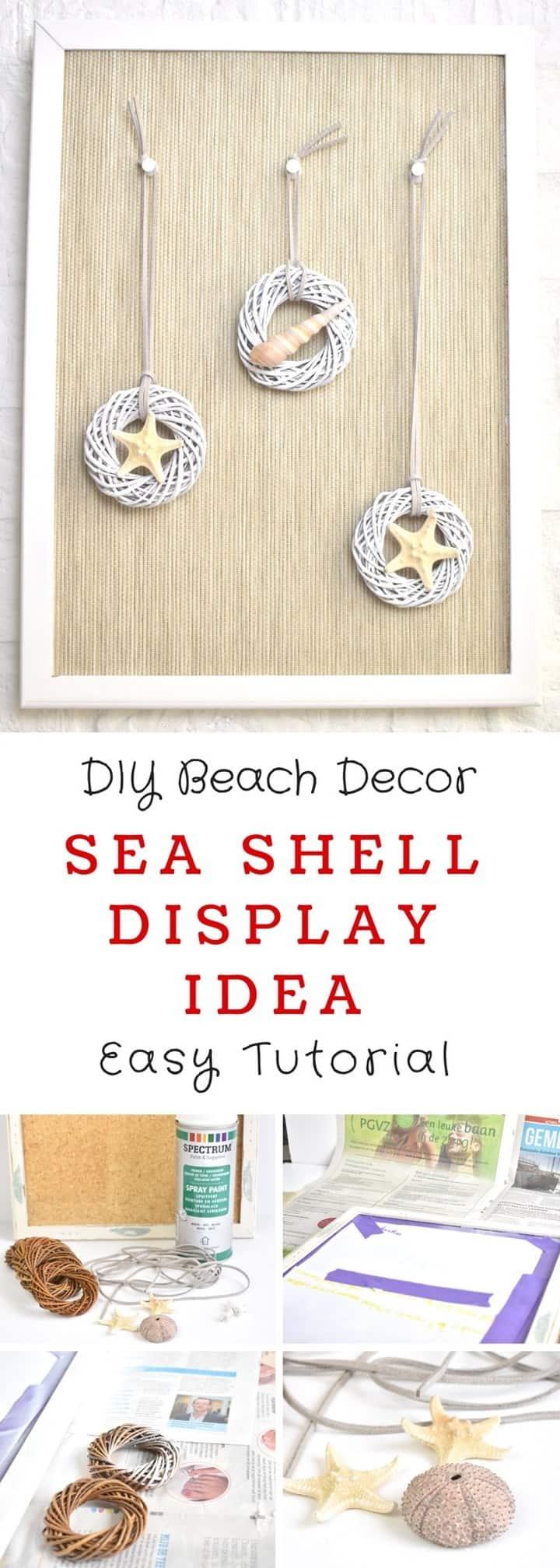 DIY Sea Shell Wall Art Idea