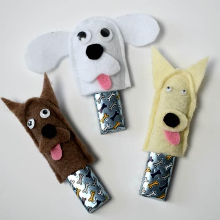 Dog Craft Ideas For Kids Part - 38: Dog Finger Puppet Favours / Traktaties