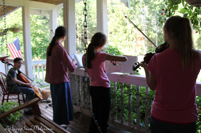 quartet on the porch