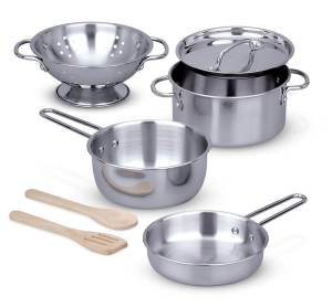 pots & pans from Melissa & Doug