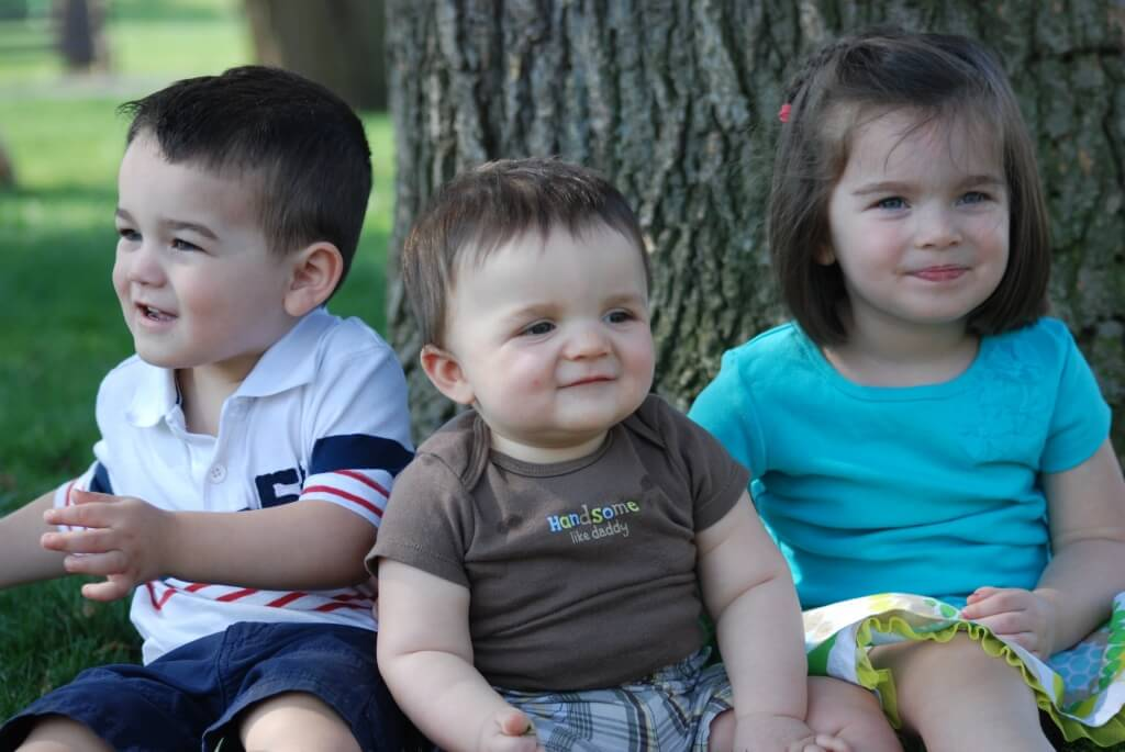 My oldest 3 kids only a few short years ago!