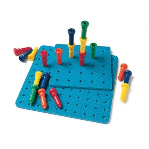 Stacking pegs & peg board