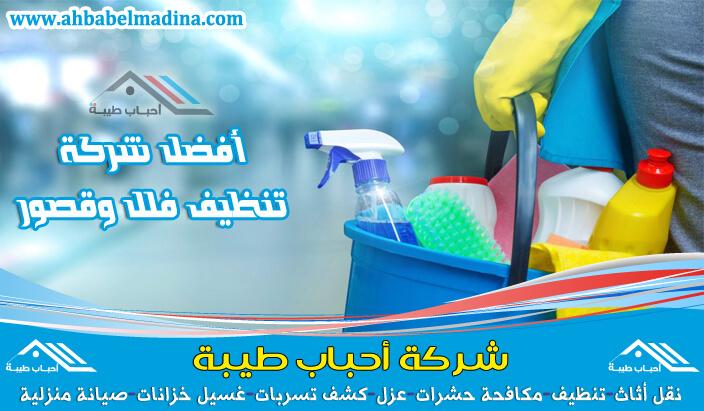 شركة تنظيف فلل بجازان وأفضل شركة نظافة قصور في جيزان بأسعار مخفضة