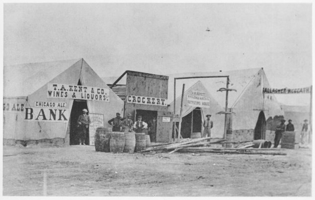 Street Scene in Benton, Wyoming Territory, 1869