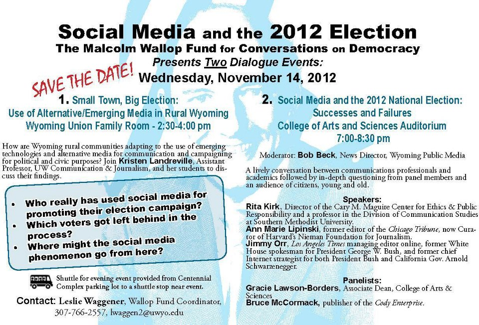 AHC + Wallop Fund = 2 Dialogue Events on Social Media in