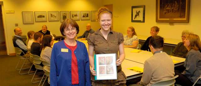 AHC Undergraduate Research Award Recipient Erin Kimberly Lund with Anne Marie Lane.
