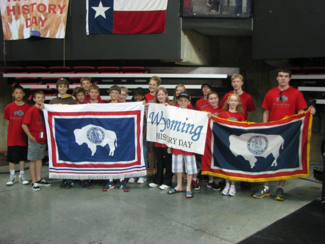 All of the National History Day contestants from Wyoming, pictured here at the national contest!