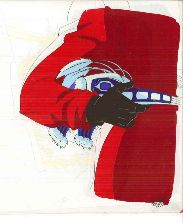 """Carmen Sandiego animation cell, from the TV cartoon """"Where on Earth is Carmen Sandiego,"""" Box 387, Andrew Heyward papers, #12533. UW American Heritage Center."""