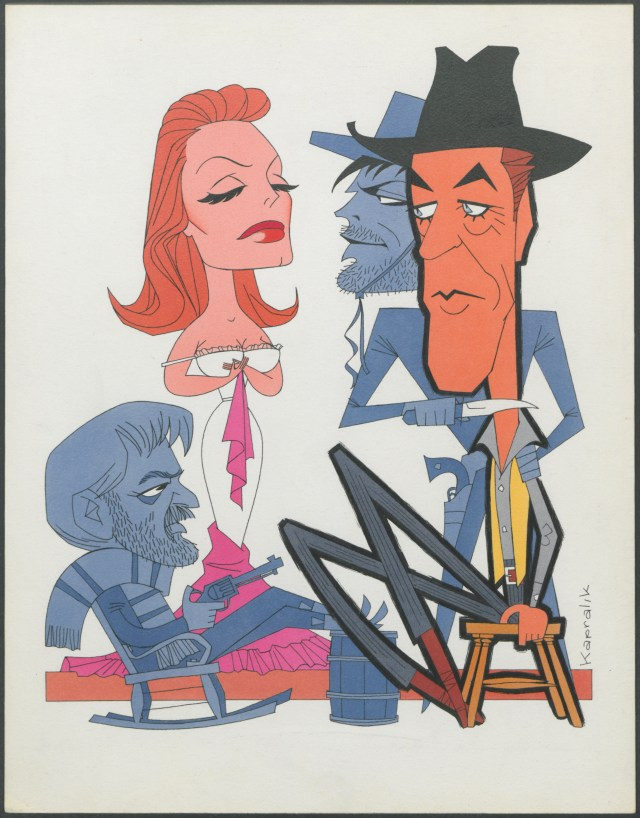 Man of the West with Cary Cooper and Julie London, 1958. Jacques Kapralik papers, #4064, Box 38. University of Wyoming, American Heritage Center.