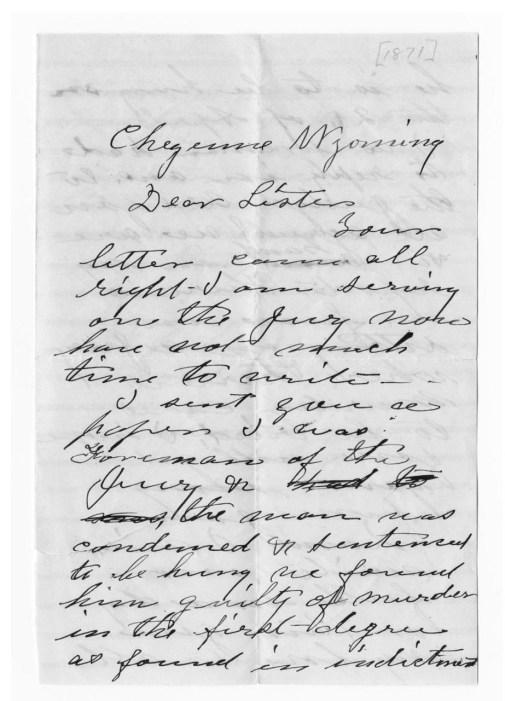 letter written in cursive