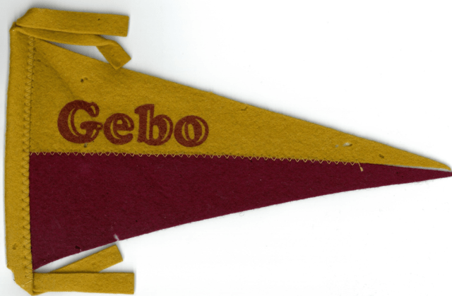 Gebo penant - yellow and red in color
