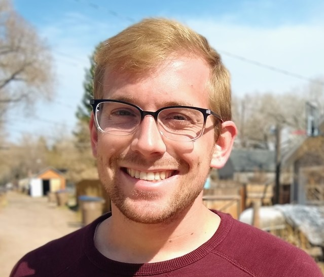 Photo of Ben Nathan, a senior in the University of Wyoming's Department of Visual and Literary Arts. He won the 2020 American Heritage Center Undergraduate Research Award.
