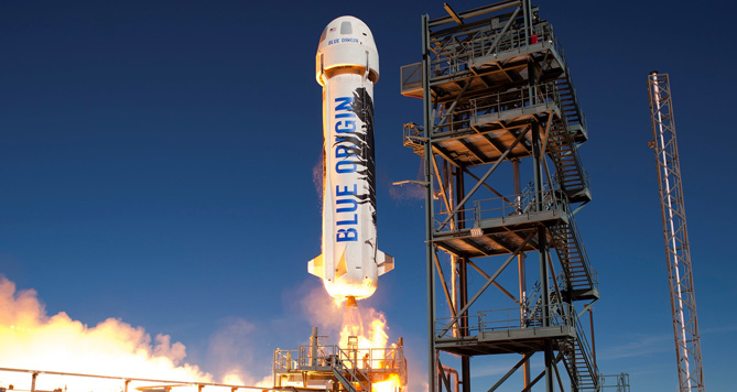 Blue Origin, Jeff Bezos, Amazon.com, New Shepard, สำรวจอวกาศ, จรวด