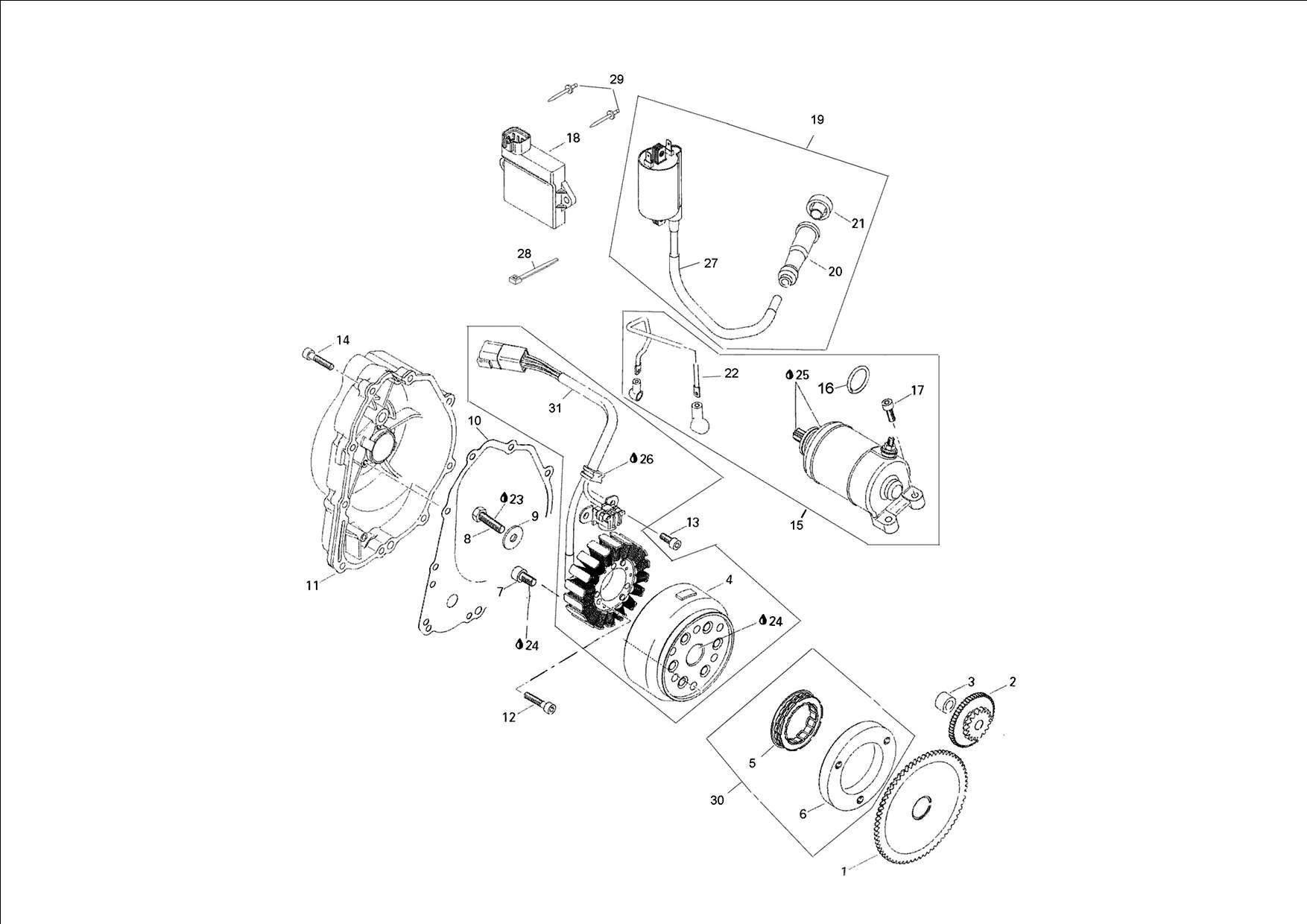 Adly Moto Magneto Gasket