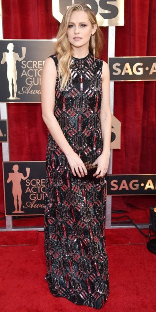 LOS ANGELES, CA - JANUARY 29: Actor Teresa Palmer attends The 23rd Annual Screen Actors Guild Awards at The Shrine Auditorium on January 29, 2017 in Los Angeles, California. (Photo by John Shearer/Getty Images for People Magazine)