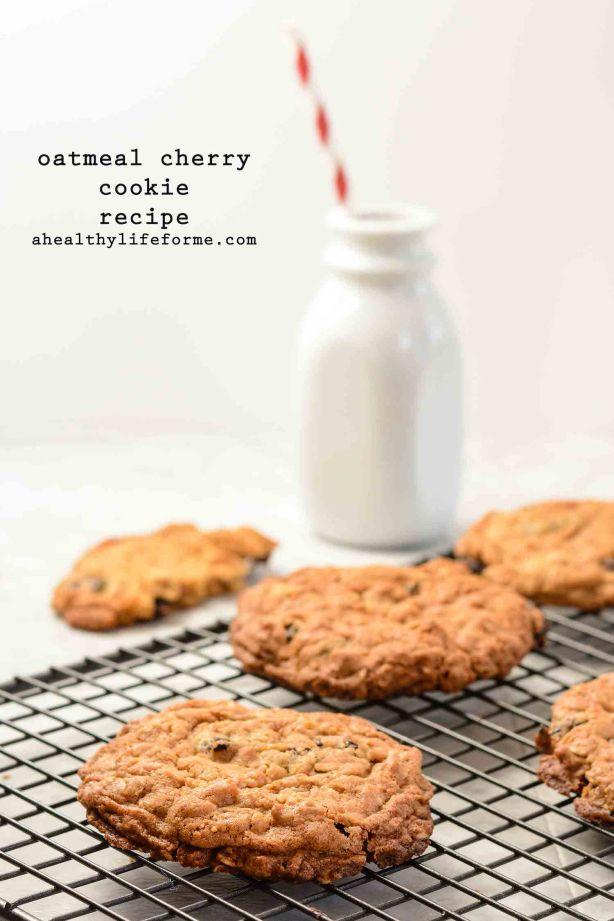 Oatmeal Cherry Cookie Recipe | ahealthylifeforme.com