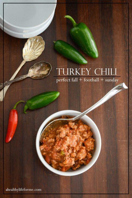 Gluten Free Low Calorie Turkey Chili | ahealthylifeforme.com