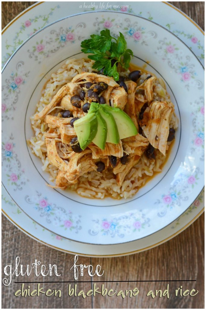 Gluten Free Chicken Black Beans and Rice Recipe | ahealthylifeforme.com