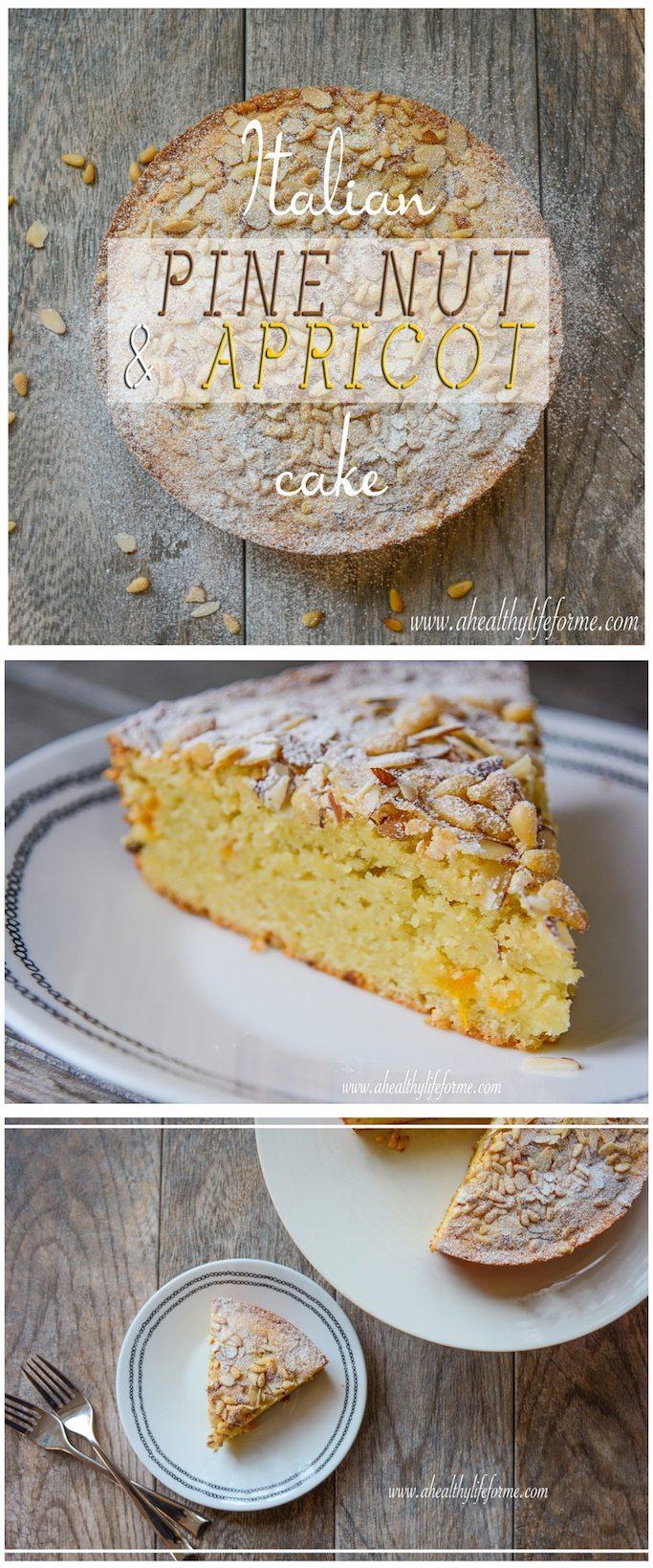 Italian Pine Nut Cake gluten free | ahealthylifeforme.com