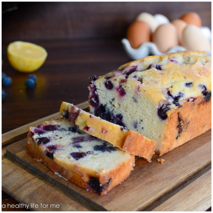 Blueberry Lemon Bread Recipe | ahealthylifeforme.com