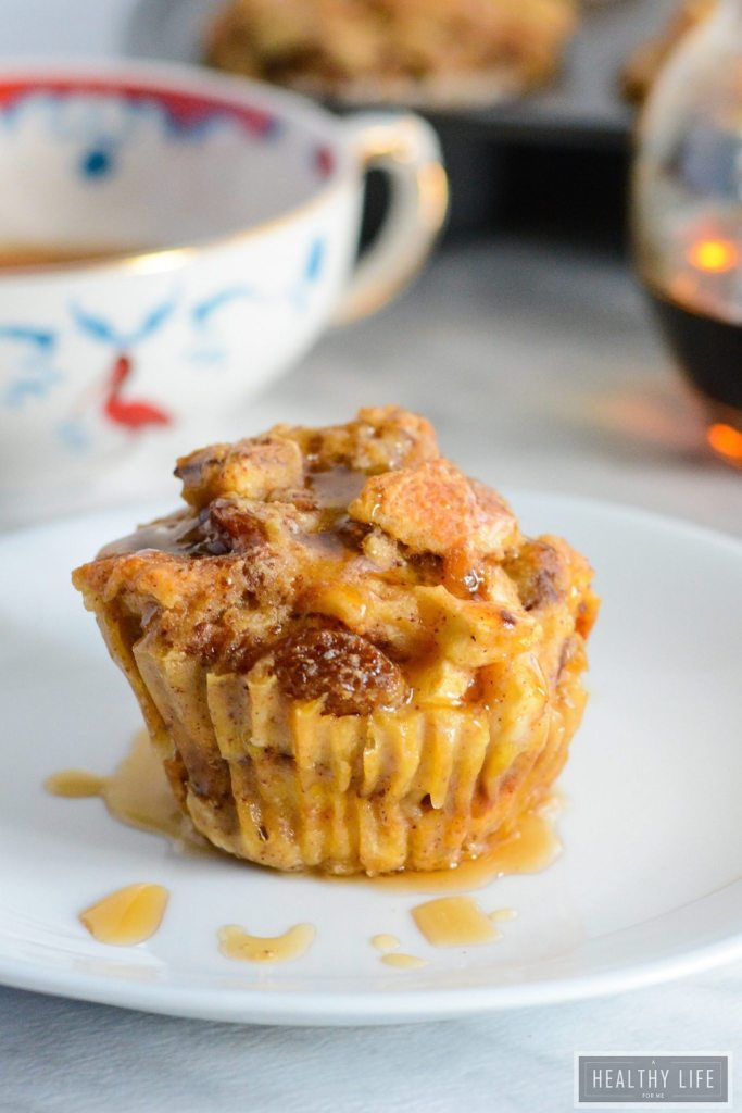 Bread Pudding Muffins are perfect for breakfast or dessert   ahealthylifeforme.com