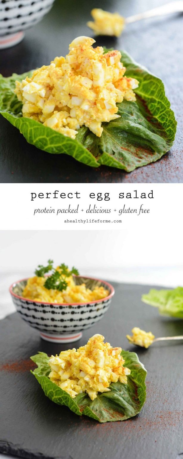 Perfect Egg Salad Recipe that is quick and easy to prepare and packed with protein   ahealthylifeforme.com