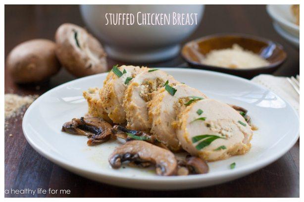 Stuffed Chicken Breasts with Mushroom Sauce