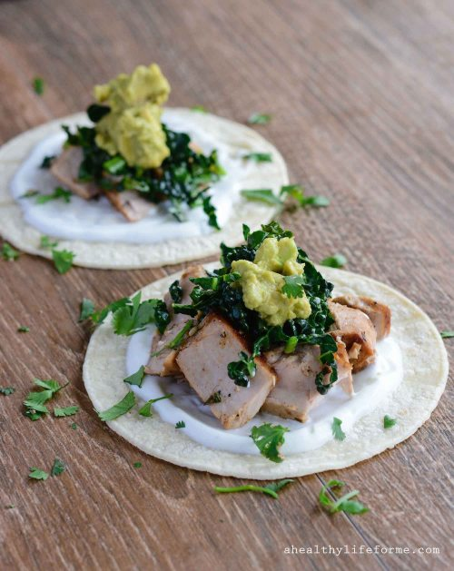 Tequila Lime Fish Tacos with Kale Recipe Gluten Free Healthy   ahealthylifeforme.com