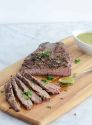 Tri Tip Roast with Sicilian Herb Sauce Paleo Gluten Free Recipe | ahealthylifeforme.com