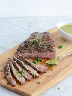 Grilled Tri-Tip with Sicilian Herb Sauce