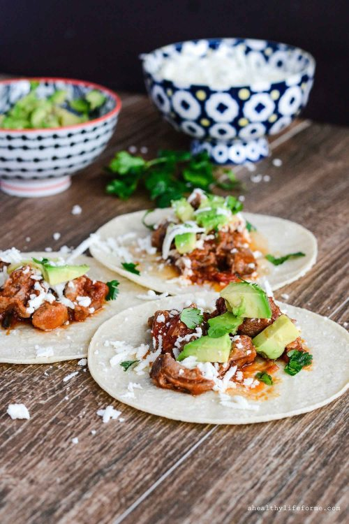 Pulled Pork Tacos Gluten Free Weeknight Dinner Recipe | ahealthylifeforme.com