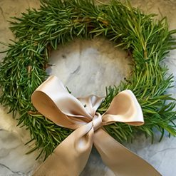 How to Make Rosemary Wreath