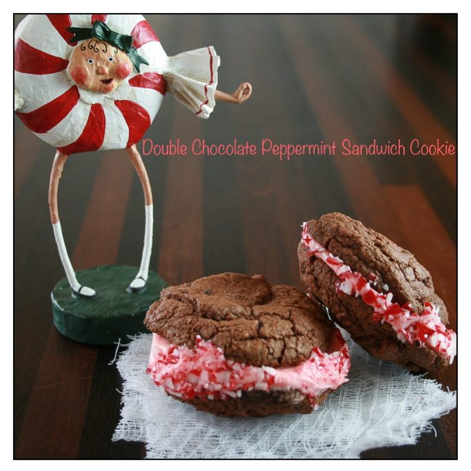 Double Chocolate Cookie Peppermint Sandwich Recipe | ahealthylifeforme.com