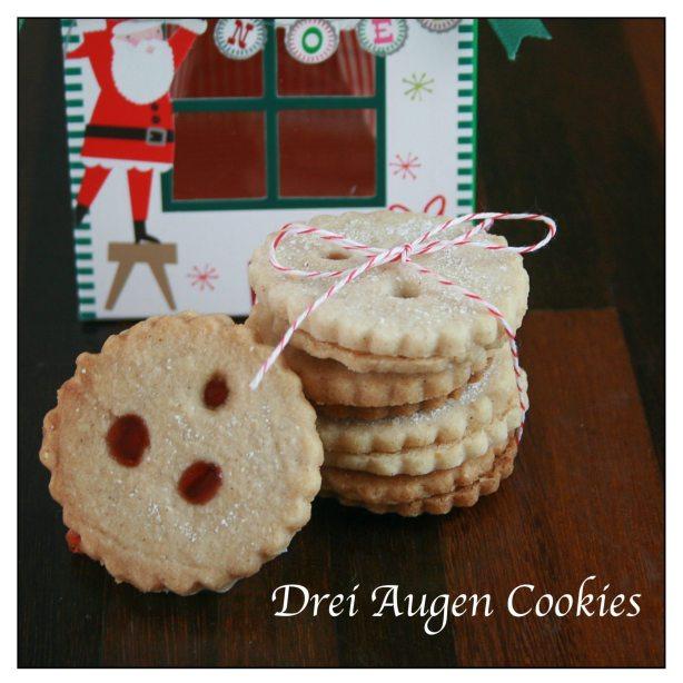Drei Augen Cookies
