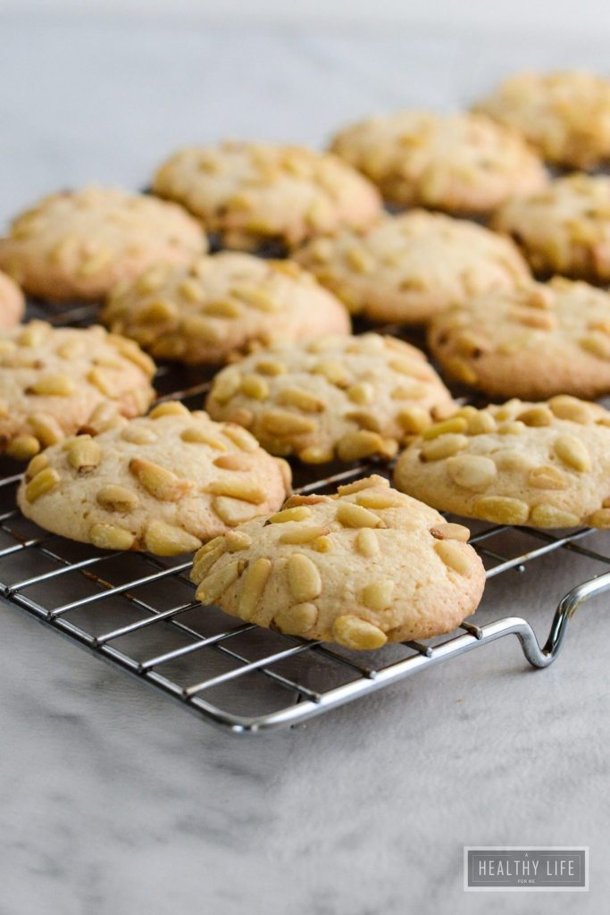 Italian Pignoli Cookie is an italian sicilian classic cookie recipe that is similar to a macroon crispy chewy and almondy cookie   ahealthylifeforme.com