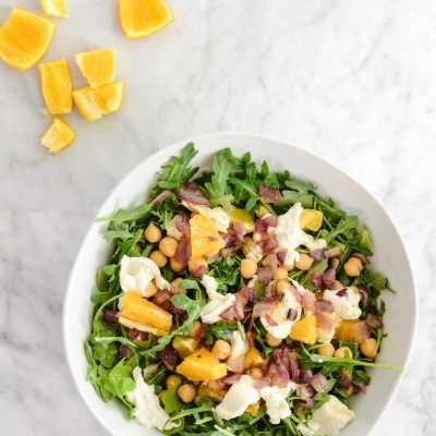 Arugula Salad with Beans and Orange Vinaigrette