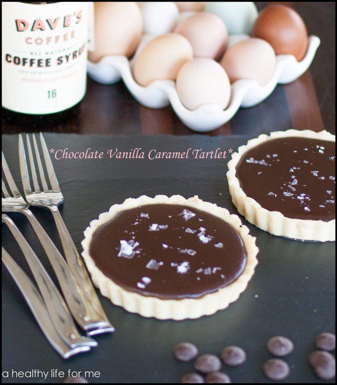 Chocolate-Vanilla Caramel Tartlet recipe | ahealthylifeforme.com