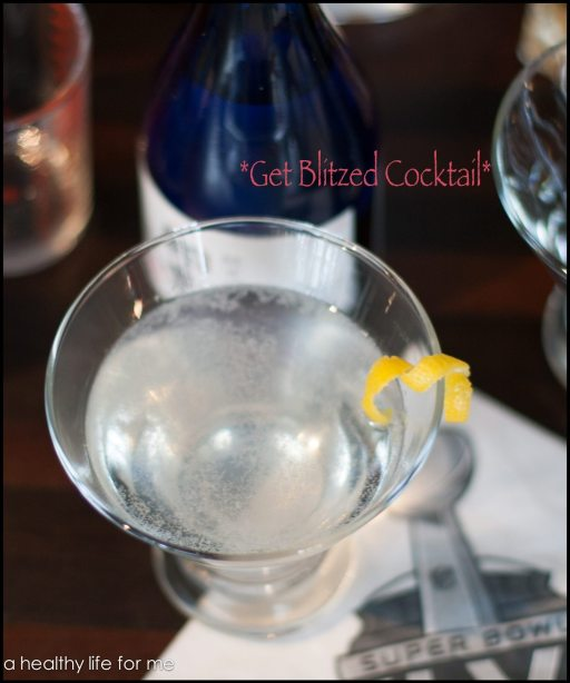 Get Blitzed Cocktail for your Superbowl celebration