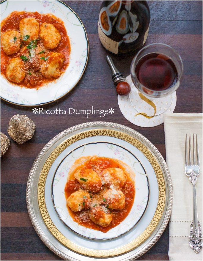 Ricotta Dumplings with Vodka Marinara Sauce | ahealthylifeforme.com