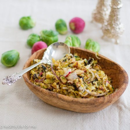 Roasted Brussles Sprouts Slaw Recipe | ahealthylifeforme.com