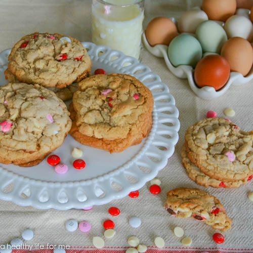 White Chocolate and M&M Cookies